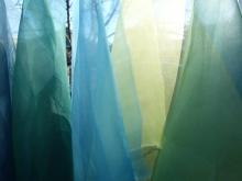 naturally dyed silk organza fabric