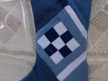 blue jean Christmas stocking