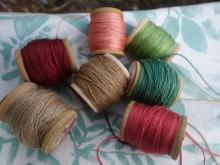 walnut, madder, indigo and weld dyed silk