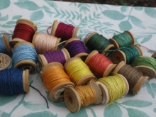 natural dyes on silk thread