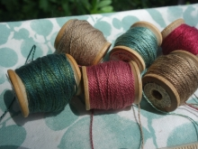 naturally dyed embroidery silk