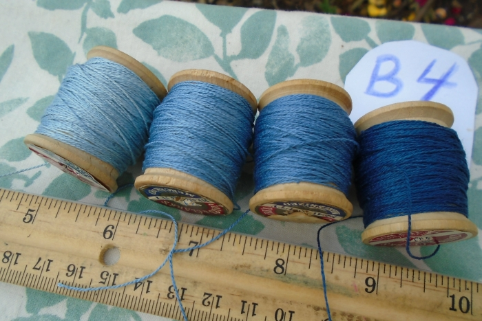 silk embroidery thread dyed with natural indigo