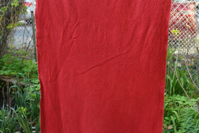 raw silk dyed with madder roots