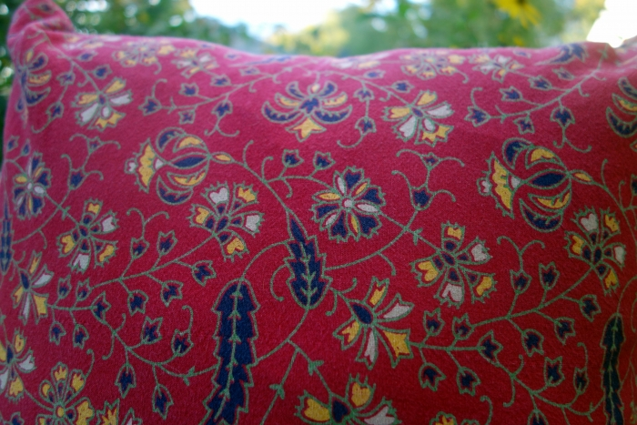pillow covers made from vintage Indian block print cotton