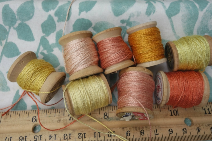 coreopsis, weld and madder dyes
