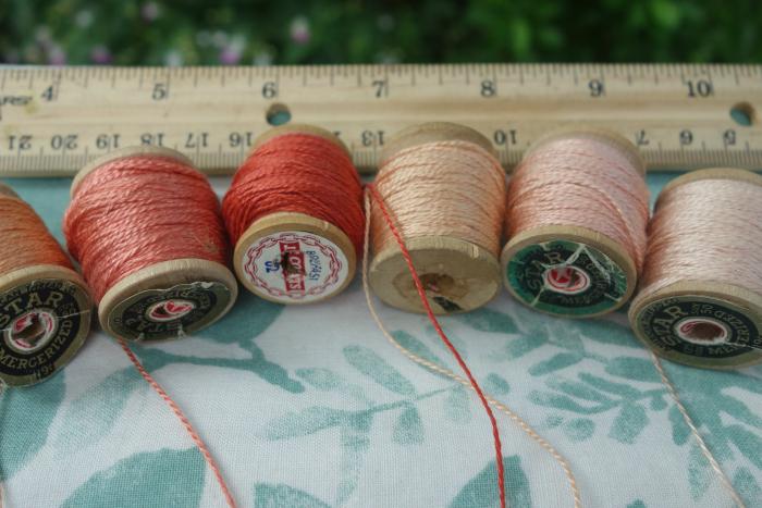 madder dyed silk thread