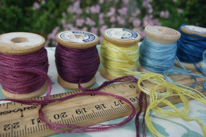 cotton embroidery floss and natural dyes