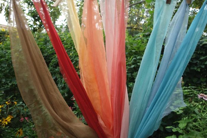 plant dyed silk gauze