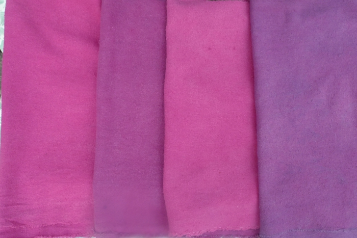 raw silk dyed with logwood and lac