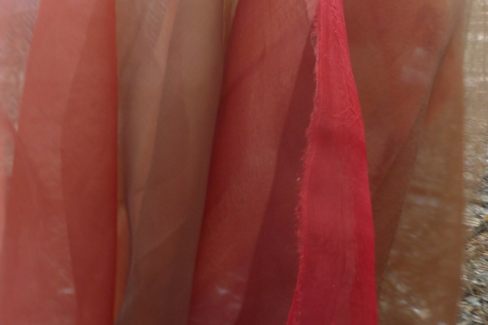 silk organza and natural dyes