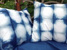 indigo shibori pillow covers