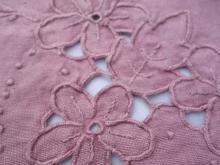 madder dyed vintage tablecloth
