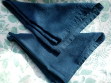 indigo dyed  textured large cotton napkins