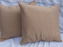 walnut dyed silk pillow covers