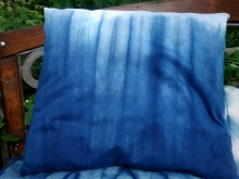 shibori  indigo pillow cover