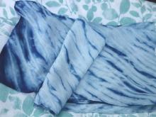 indigo arashi silk scarf
