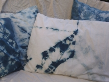 large indigo and white pillow cover