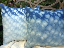 linen shibori pillow covers
