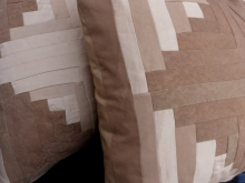 log cabin pillow covers natural walnut dye
