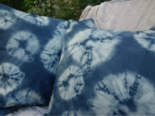 shibori spiderweb pillow covers