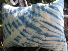 indigo shibori pillow cover
