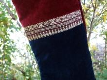 velvet and silk Christmas stocking