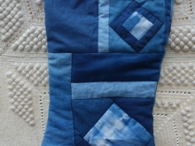 indigo shibori Christmas stocking