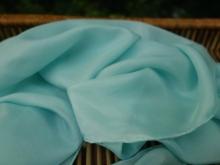 silk scarf dyed with fresh indigo leaves
