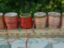 madder dyed silk thread