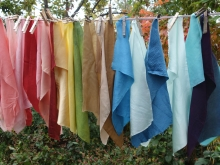 assorted silks and plant dyes
