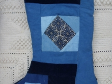 indigo Christmas stocking