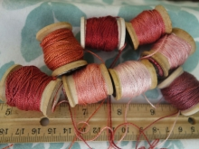 madder dyed silk embroidery thread