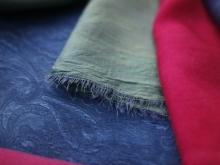 indigo, madder and cochineal on vintage silks