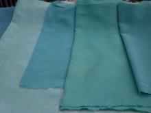 fresh indigo leaf dye and vintage silks