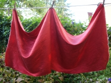 hemp/silk fabric dyed with madder roots