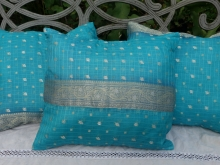 sari silk pillows