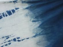 shibori indigo dyed cotton fabric