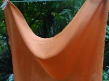 orange madder dyed silk