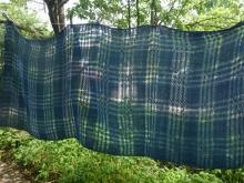 handwoven cotton scarf dark indigo