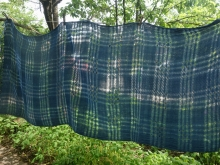 handwoven cotton scarf dark indigo