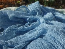 handwoven  cotton indigo  scarf