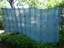 handwoven cotton scarf light indigo
