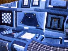 blue jean sampler quilt