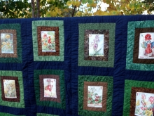 flower fairy alphabet quilt
