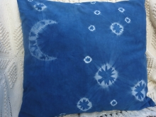 indigo moon and stars  pillow cover