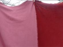 madder dyed raw silk