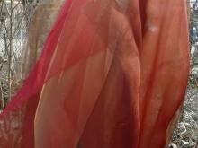 silk organza and natural dyes